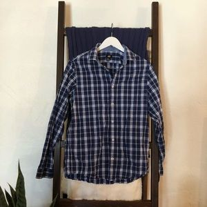 H&M Blue Plaid Button Down
